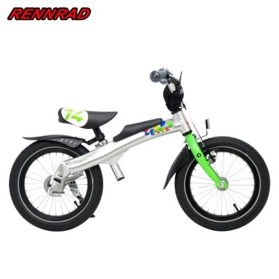 RENNRAD-鋁合金滑步車腳踏車兩用14吋綠