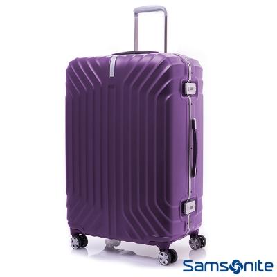 新秀麗-25吋-PC時尚硬殼鋁框登機箱-絢麗紫