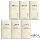 AHAVA 死海鑽鹽柔膚皂100g*3入+死海珍泥淨化皂100g*3入