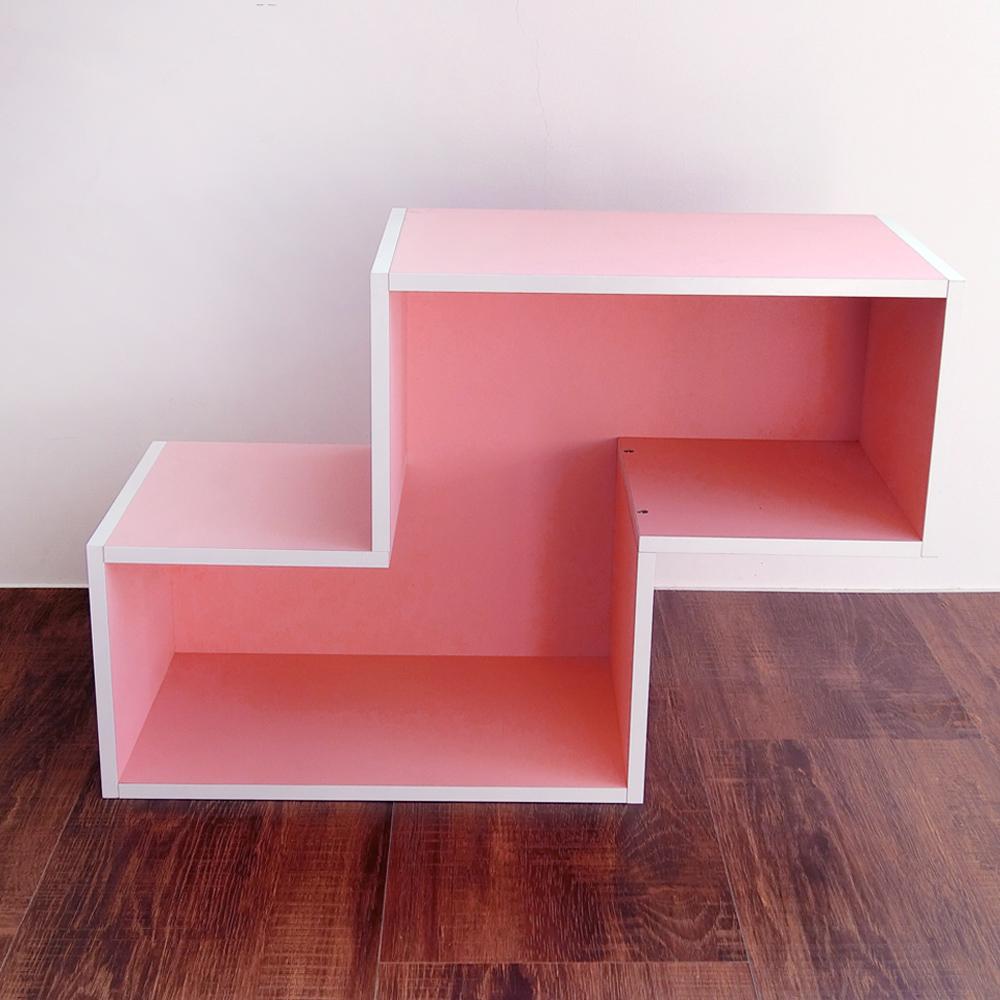 Amos-創意堆疊方塊組合N型空櫃(W60*D24*H40CM)