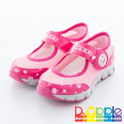 Dr. Apple 機能童鞋 氣質蘋果休閒涼鞋款 粉紅