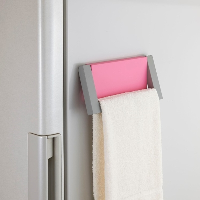 日本Belca磁吸式毛巾架-紅彩