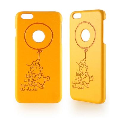 Disney iPhone 6 plus / 6s plus皮革壓紋手機殼-維尼