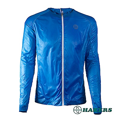 【HAKERS 哈克士】男款輕量風衣外套-寶藍