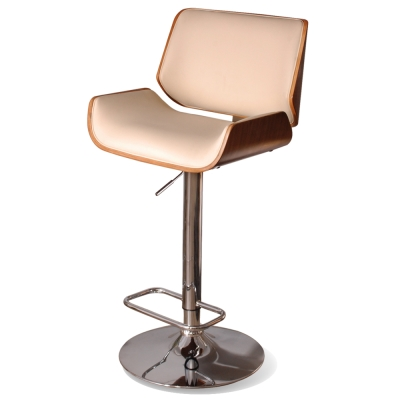 Claude克勞德吧台椅(皮質)-米色