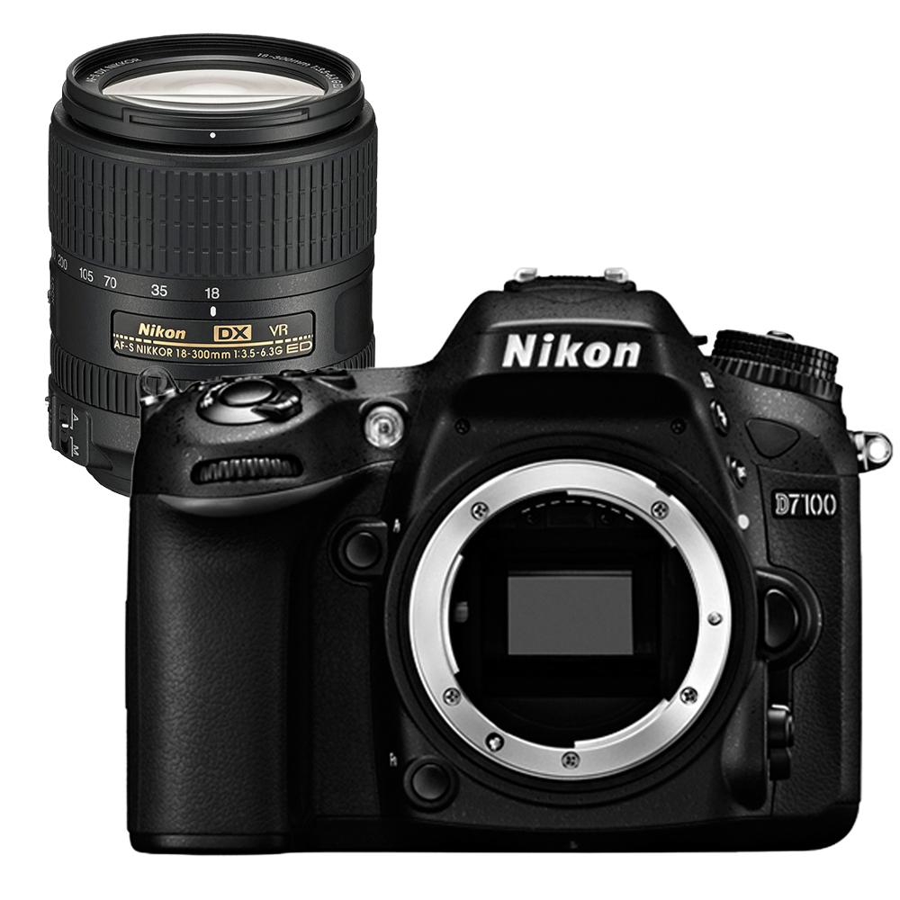 Nikon D7100+18-300mm 輕量級單鏡組(平輸中文)