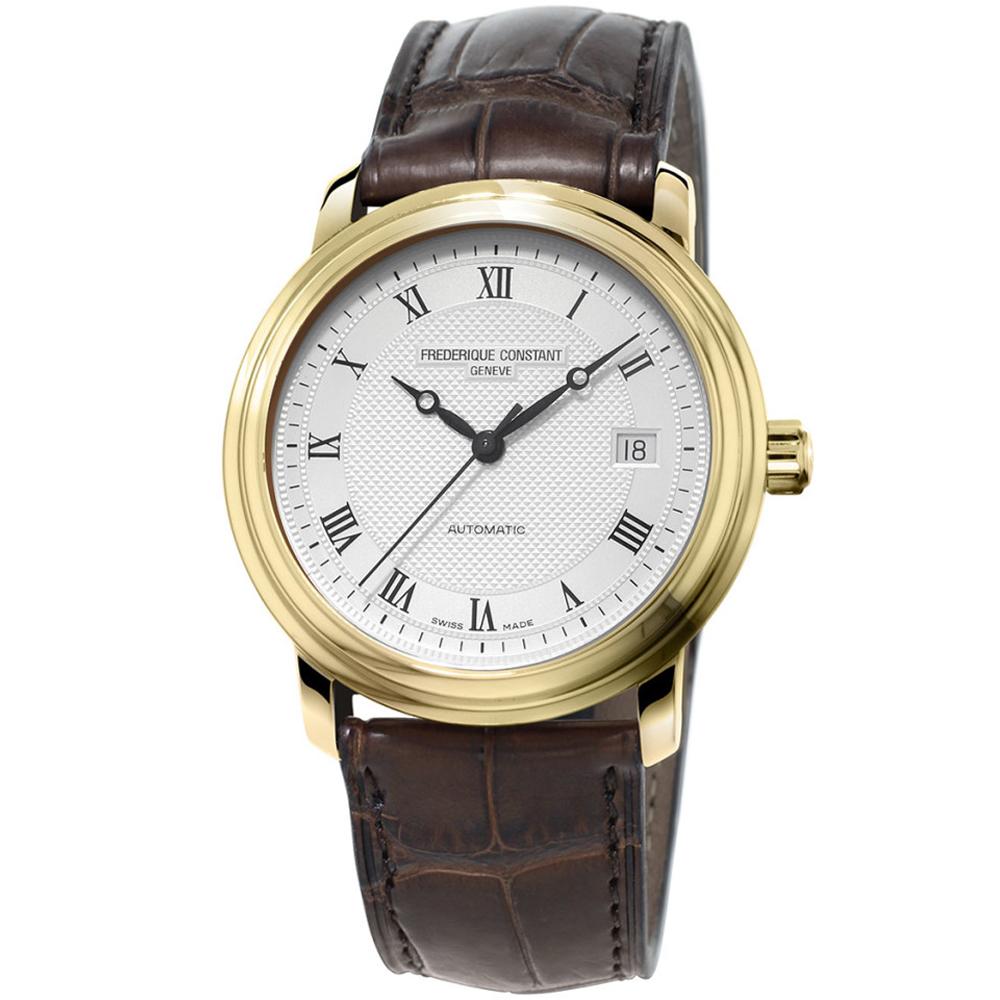 康斯登 CONSTANT  CLASSICS百年經典系列羅馬時標腕錶-金/40mm