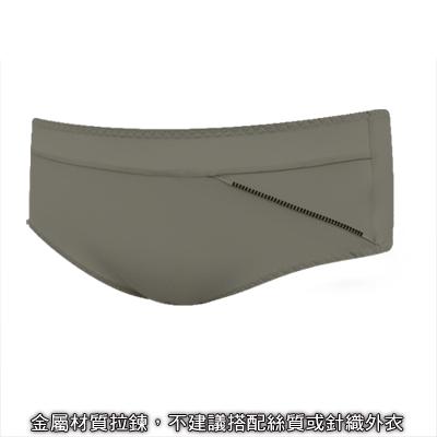 瑪登瑪朵-魔酷風革-低腰平口綿褲-大地棕