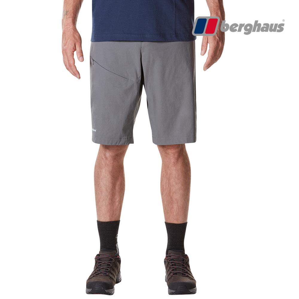 【Berghaus貝豪斯】男款輕量彈性短褲S09M07-灰