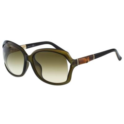GUCCI-李冰冰代言-竹節太陽眼鏡(方框/透明灰綠)