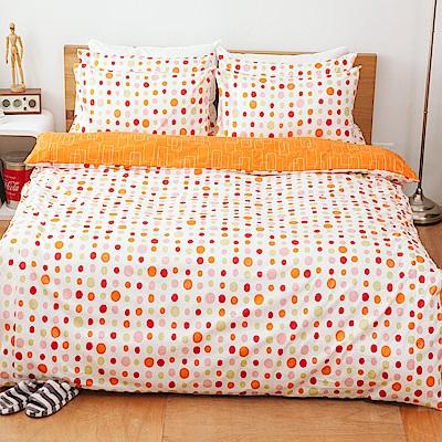 kokomos扣扣馬 鎮瀾宮大甲媽 精梳棉205織紗雙人床包被套四件組 酸橙汽水