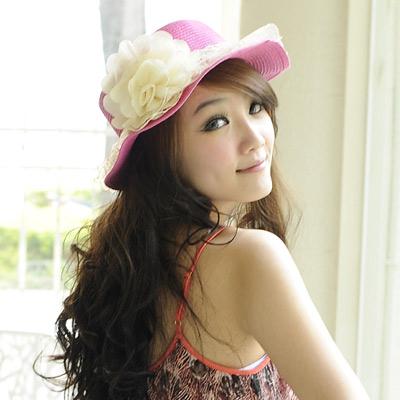 【Aimee Toff】精緻紗蕾牡丹春貌遮陽帽(桃)