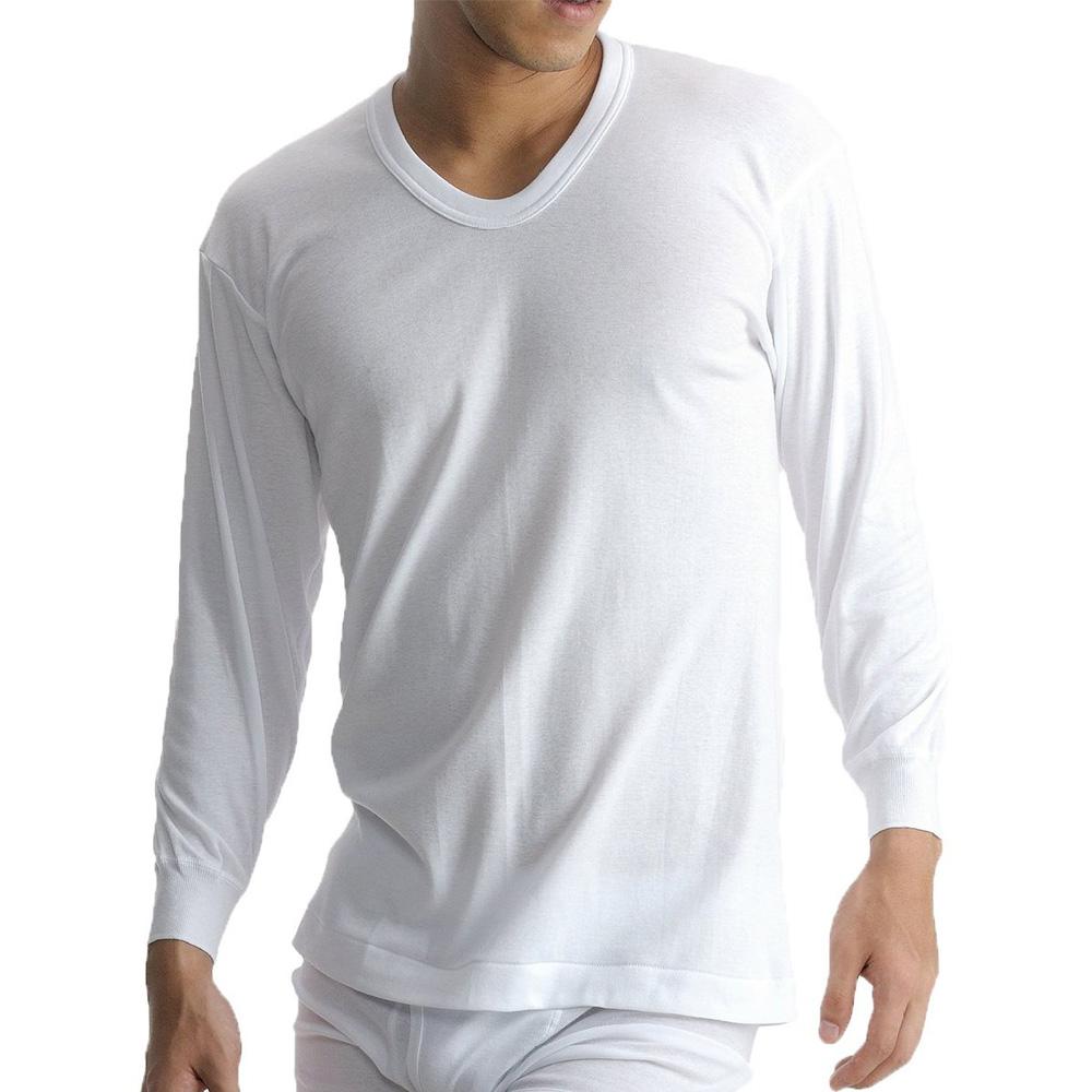 BVD 日本精紡交撚紗系列 U領8分袖上衣 (白色)