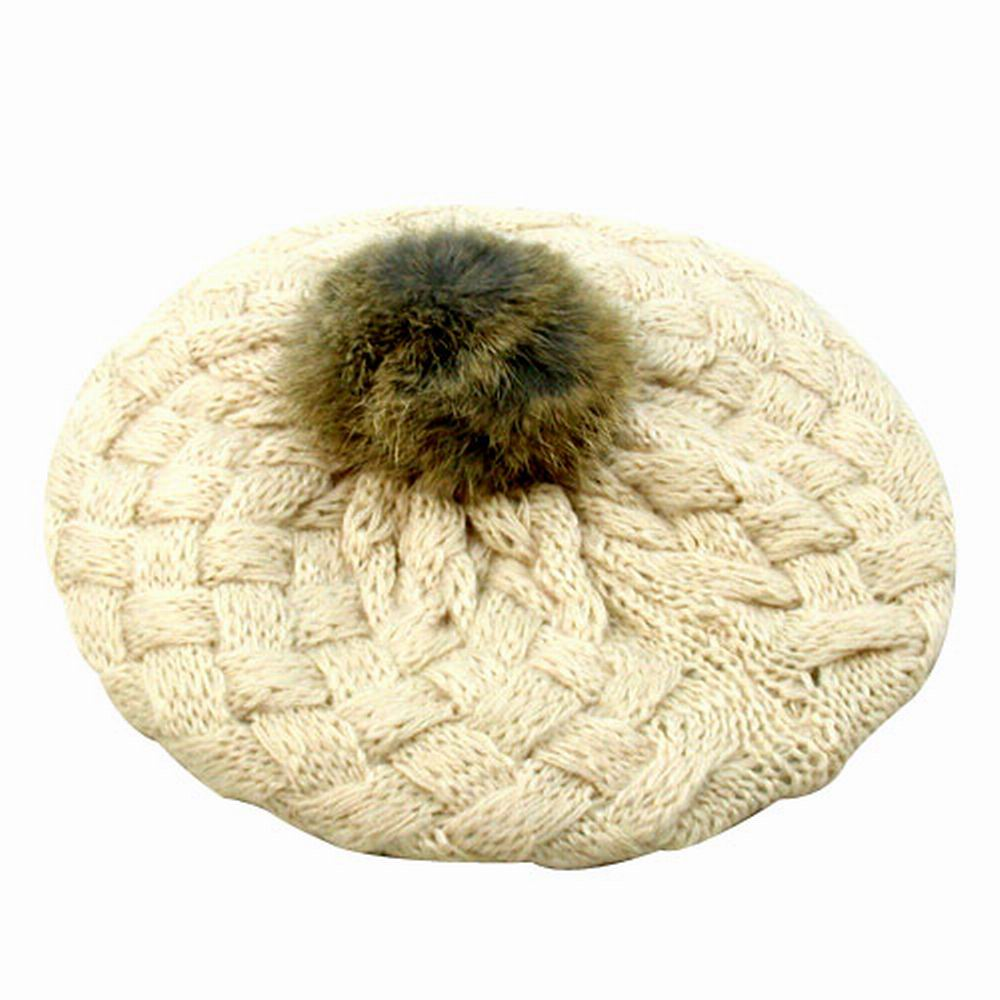 【iSFun】鬆軟棉織兒童貝蕾帽(米)