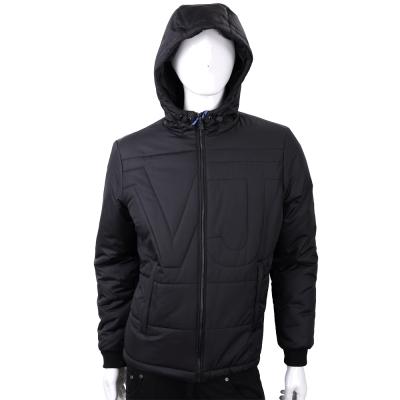 VERSACE 絎縫字樣黑色防風連帽夾克