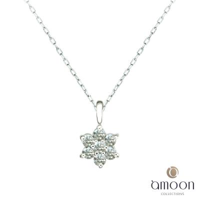 amoon 日式鉑金系列 光芒 鉑金鑽石項鍊