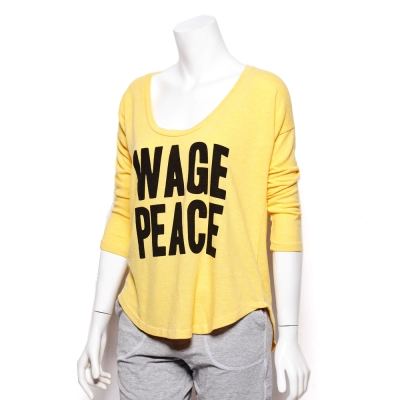 kitson x Local Celebrity美製WAGE PEACE刷毛長T