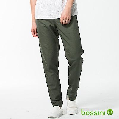 bossini男裝-休閒棉麻輕便長褲01橄欖灰