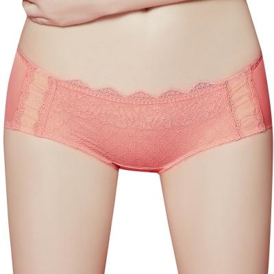 思薇爾 啵時尚系列M-XL蕾絲低腰平口內褲(芙蓉粉)
