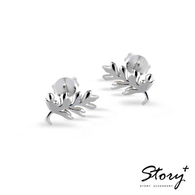 STORY故事銀飾-蕨類 925純銀耳環