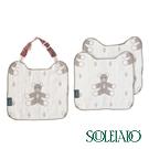【SOULEIADO】六層紗普羅旺斯熊手帕夾組