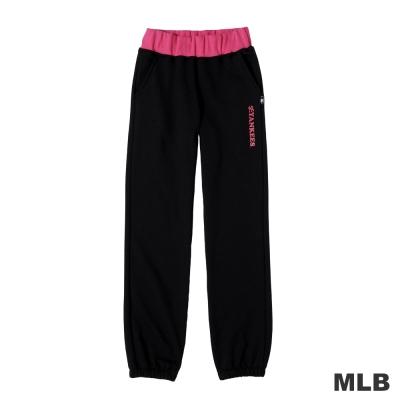 MLB-紐約洋基隊運動縮口純棉長褲-灰色(女)