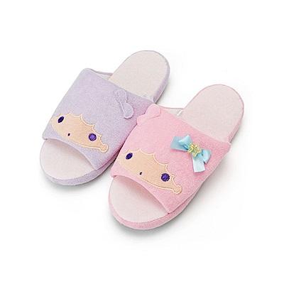 Sanrio 雙星仙子可愛大臉毛巾布室內拖鞋