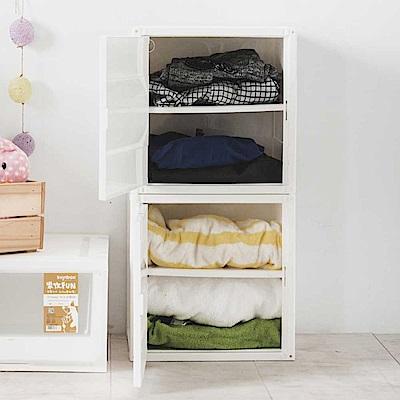 Home Feeling 置物箱/收納櫃/可堆疊(2色)-6入-36X29X36