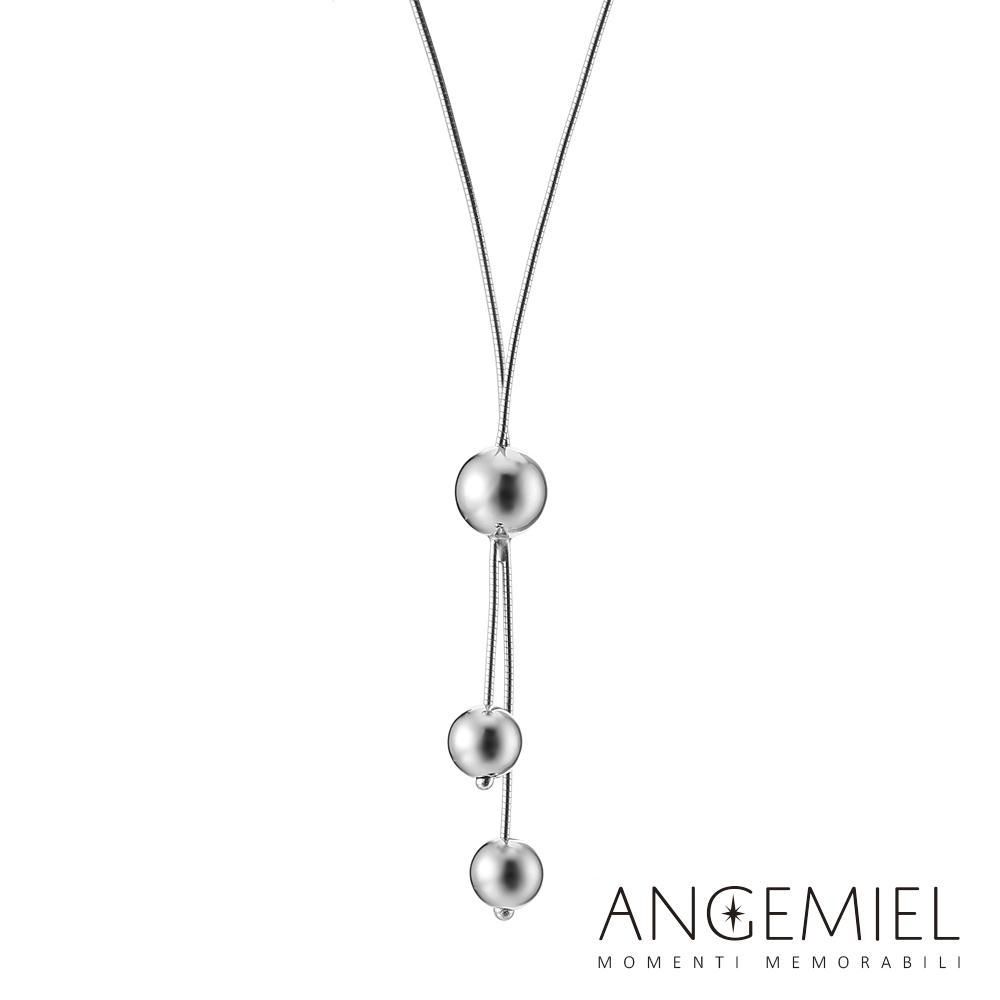 Angemiel安婕米 義大利珠飾 925純銀項鍊(時尚)
