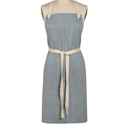 【DANICA】雙口袋圍裙(灰)