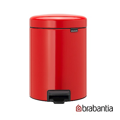 Brabantia NEWICON環保垃圾桶-5L熱情紅