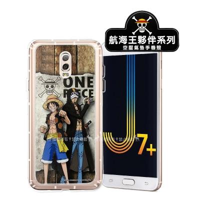 航海王夥伴系列 Samsung J7+/J7 Plus 空壓殼(魯夫&羅...