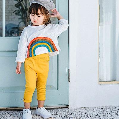 Baby unicorn 黃色素面口袋長褲