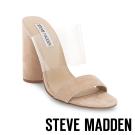 STEVE MADDEN-DALIS-TAN  透明背帶高跟涼鞋-米色