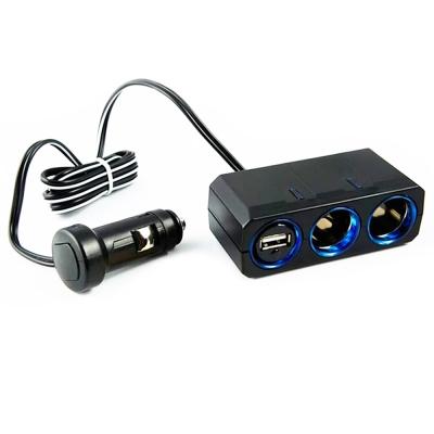 YAC 12V延長線兩孔附USB插座 (PZ-610)-快