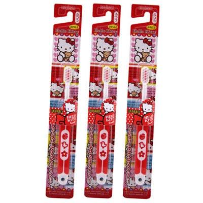 EBISU-Hello Kitty 軟柄兒童牙刷×3入