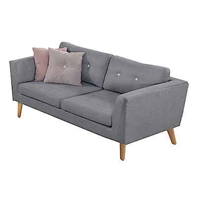 品家居 班尼迪絲絨布實木沙發雙人座-165x91x67cm-免組