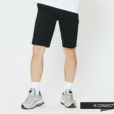 H:CONNECT 韓國品牌 男裝-簡約設計短褲-黑