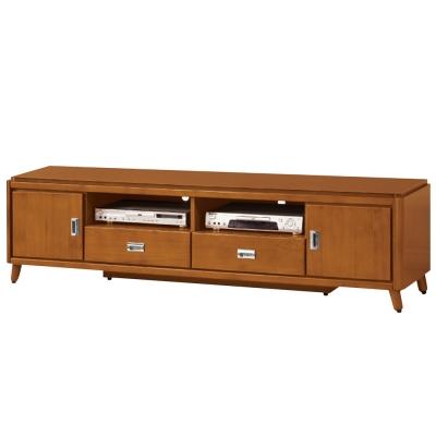 Bernice-安德倫6尺實木二門二抽電視櫃/長櫃-182x45x51cm