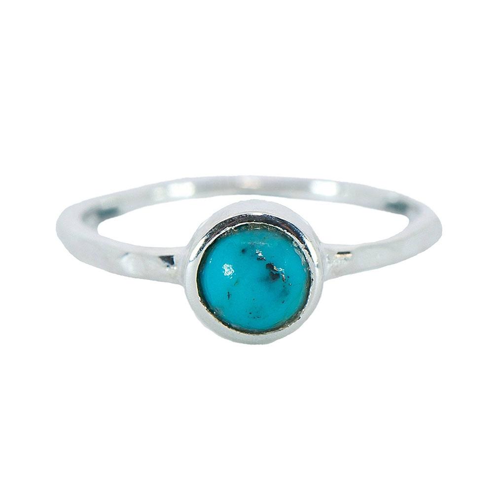 Pura Vida 美國手工 波西米亞風綠松石 純銀戒指
