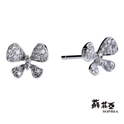 蘇菲亞SOPHIA - 花蝶 0.14克拉鑽石耳環