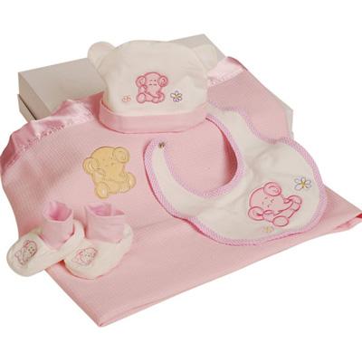澳洲baby bow-寶貝4入禮盒(粉)