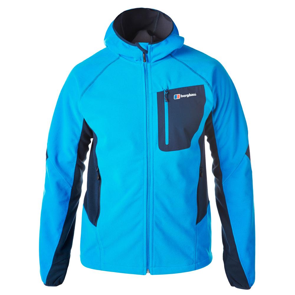 【Berghaus 貝豪斯】男款防風刷毛保暖外套H22MU9藍/藍