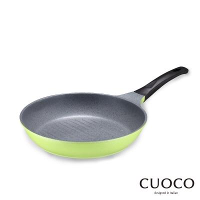 義大利 CUOCO 韓國原裝時尚鈦石輕量牛排鍋28cm(綠)