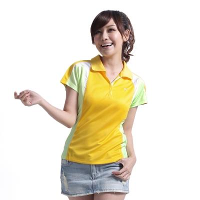 【遊遍天下】女款抗UV吸濕排汗機能POLO衫NS010黃