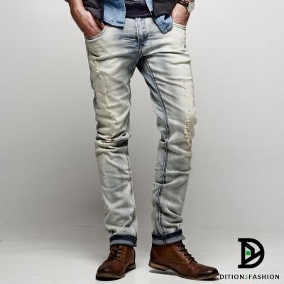 DITION-紅車線DENIM淺藍石磨367丹寧牛仔褲-大勢男神-李鍾碩