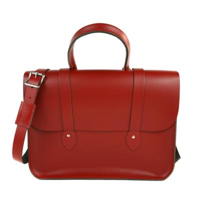 The Leather Satchel 英國手工牛皮音樂包 手提 肩背包 心機紅