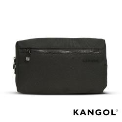 KANGOL 韓國經典側背休閒包/學生包/情侶包-混織黑