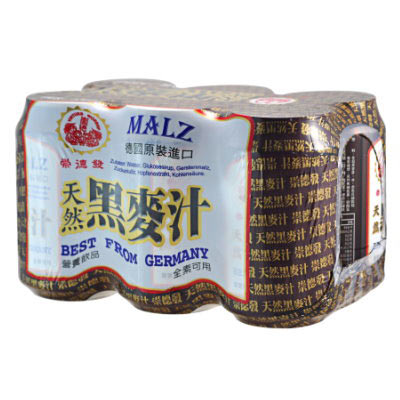 崇德發-天然黑麥汁-易開罐-330ml-X-6罐
