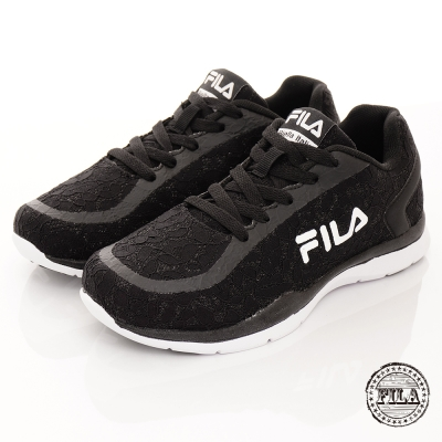 FILA-女款蕾絲系列-黑